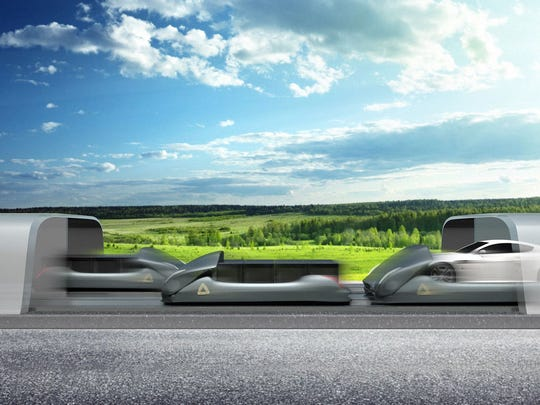 Arrivo's system places cars on platforms that can move