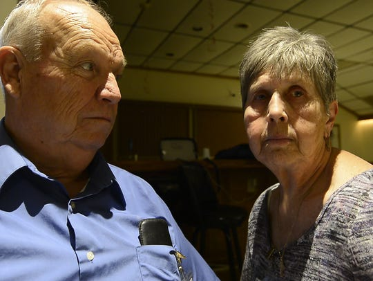 Dennis Ross, left and his wife Helen of York Haven,