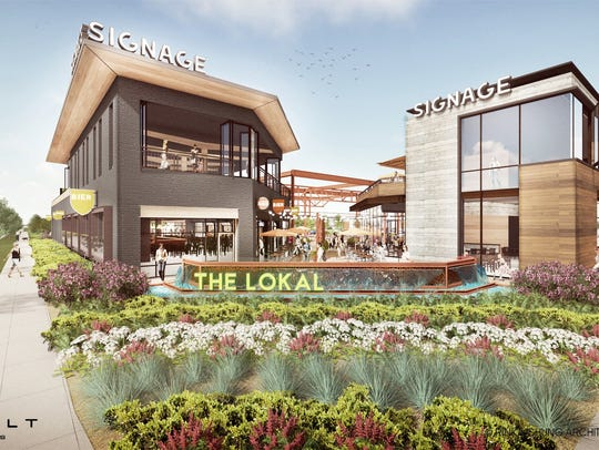 artist rendering of The Lokal, a cluster of unique
