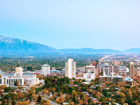 Salt Lake City panoramic overview