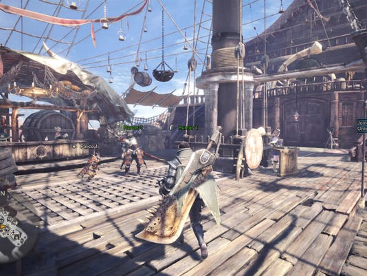 The hub in Monster Hunter World for PC, PS4 and Xbox One.