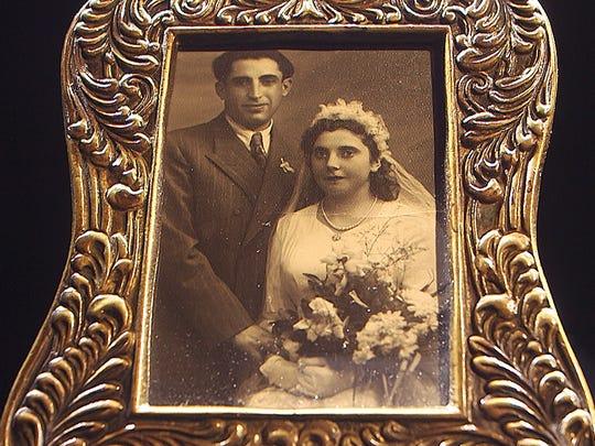 Wedding photo of Paul and Bernice Sass