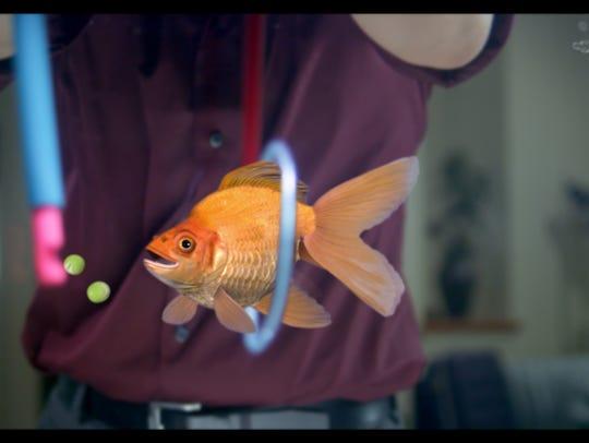 "Rodrigo does tricks in ""Alpha Fish."""