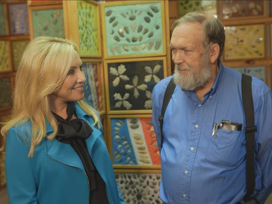 "Jamie Colby, host of ""Strange Inheritance,"" tours the"