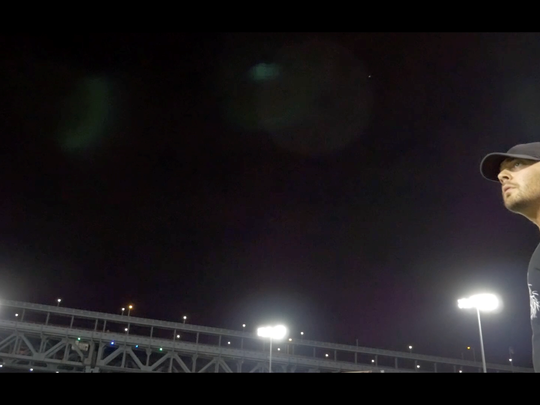 This scene from 'Ben Franklin Bridge' was shot at the end of the Riversharks' final season in Campbell's Field.
