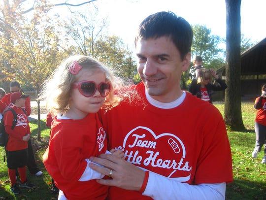 Zoe Mihalick and her dad Scott