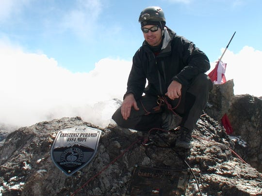 Todd Pendleton climbed Carstensz Pyramid in Indonesia