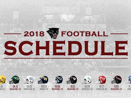 FIT football schedule released for 2018
