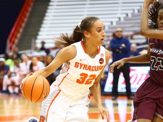Harpursville graduate Miranda Drummond has helped Syracuse University to a 9-2 start.