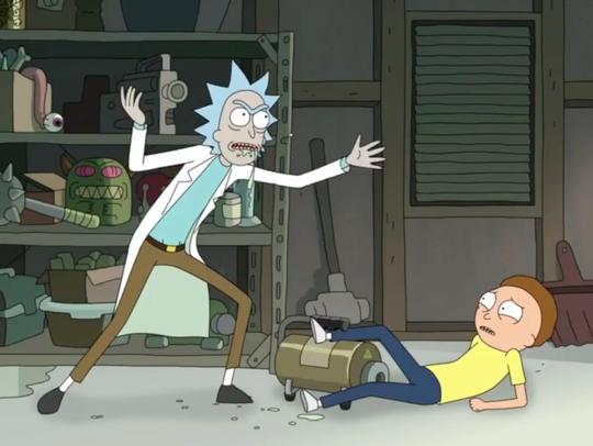 Rick and Morty talk about Szechuan Sauce.