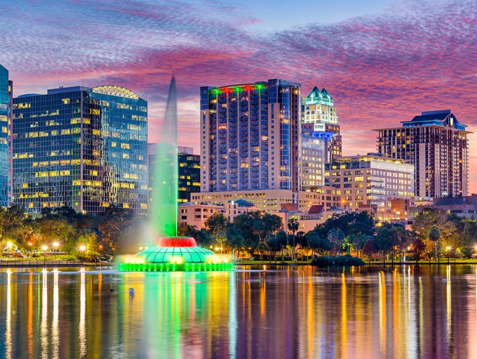 29. Cost to Visit Orlando, Fla.: $1,182.52; Meals: