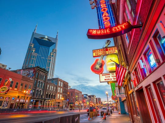 Tourism to Tennessee was up in 2018, with visitors drawn to attractions like Nashville's Broadway scene downtown.