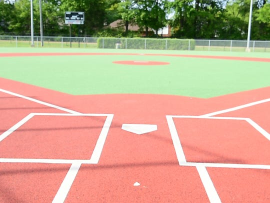 A view from the catcher's position at the new Parker Miracle Field in the Wolcott youth baseball fields in Ridgeland.