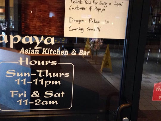 Papaya at Marketplace Mall closes