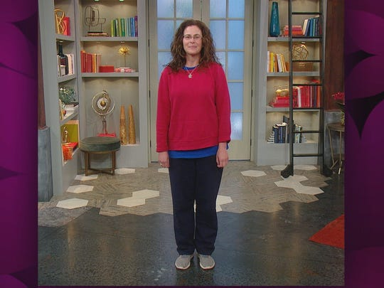 "This is Christine Errico's ""before"" look, from her  appearance on ""Rachael Ray."""
