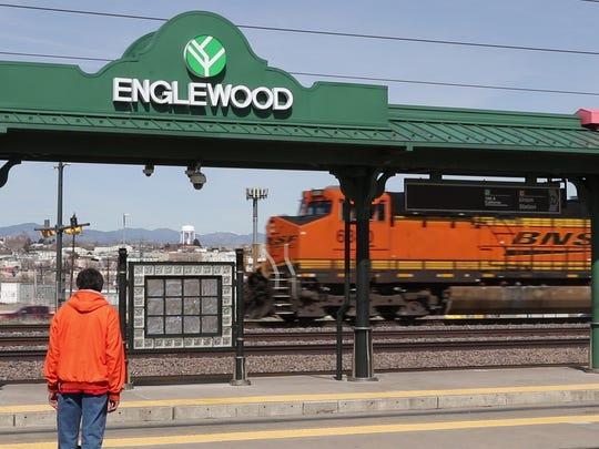 The town of Englewood, a suburb of Denver, has gone from banning the sale of marijuana to allowing it after citizens voted to allow it.  Train station in Englewood. 