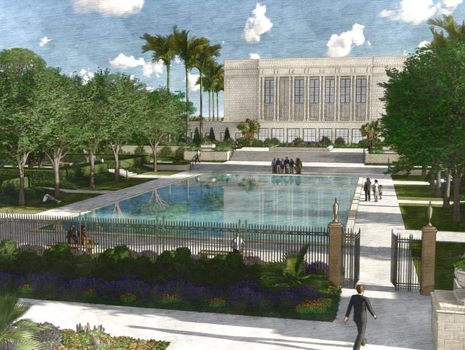 The LDS church revealed plans for a sweeping temple