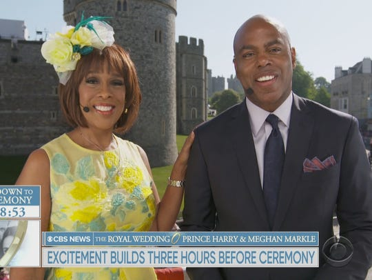 """CBS This Morning"" co-host Gayle King and ""Entertainment Tonight"" co-host Kevin Frazier anchored CBS's Royal Wedding coverage earlier this summer."