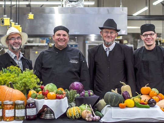 The culinary team at Glacier Park Lodge and Hutterite farmers Dave and Ike from the Birch Creek Colony celebrate their connection in farm-to-table cooking.
