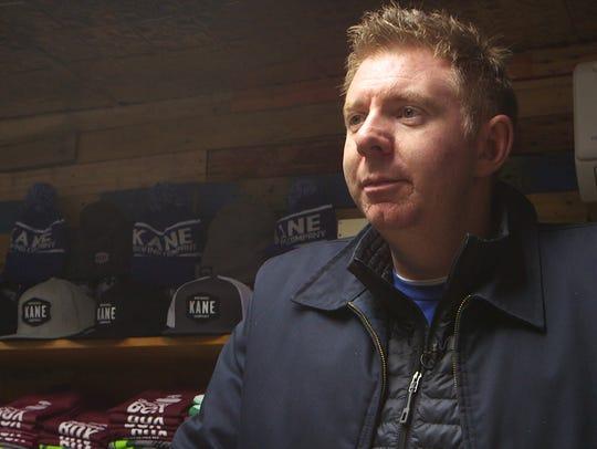 Kane Brewing's owner Michael Kane