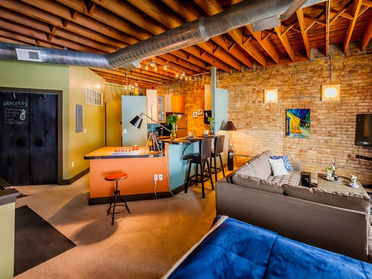 This Stove Co. loft, located at 617 E. Michigan Ave., has a wide open living space.