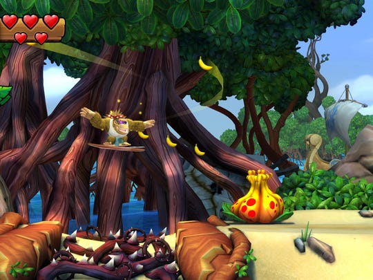 "Funky Kong goes bananas in ""Donkey Kong Country: Tropical Freeze"" for the Nintendo Switch."