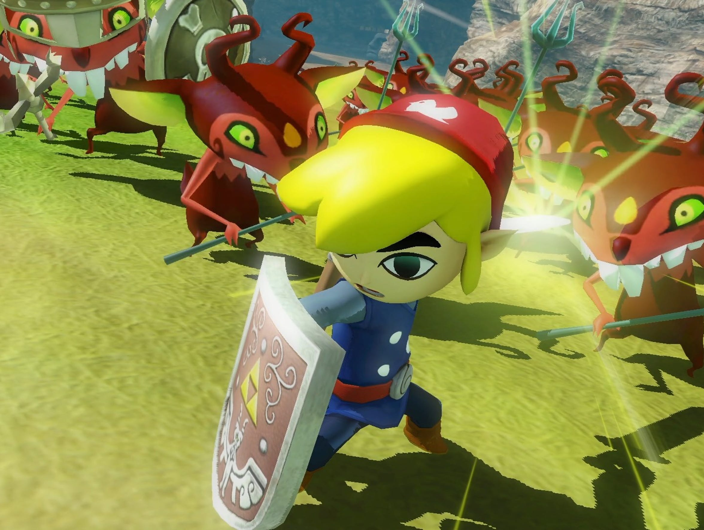 Toon Link in Hyrule Warriors Definitive Edition for