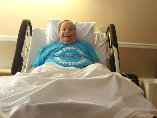 Terminally ill patient John Mudry, 71 of Monroe, has