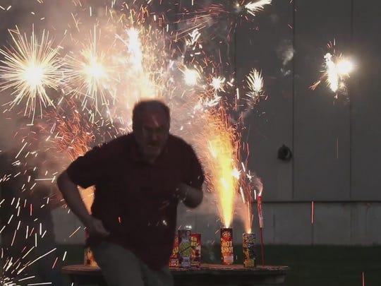 Reporter Jim Beckerman explores supermarket fireworks.