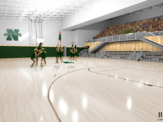 This rendering shows how the North High natatorium