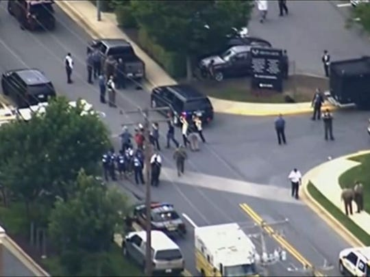 At least four people have been shot at the Capital-Gazette