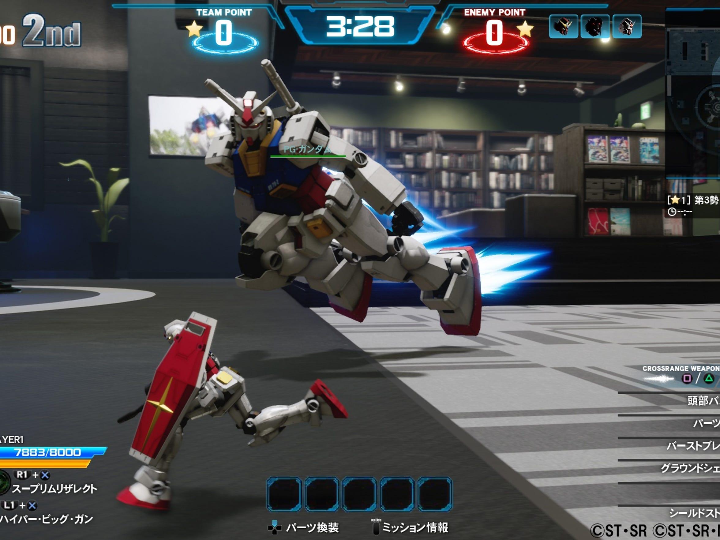 New Gundam Breaker on the PlayStation 4.