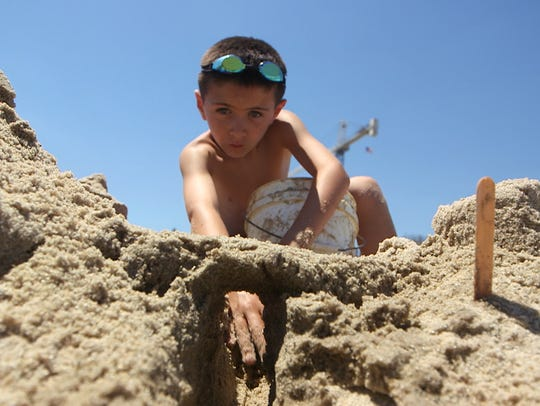 Kids hit the beach for a Long Branch sandcastle competition
