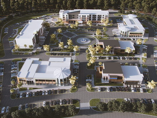 The $30 million Palm Bay Executive Park will feature a Hyatt Place hotel, Home2Suites hotel, two restaurants and three retail buildings.