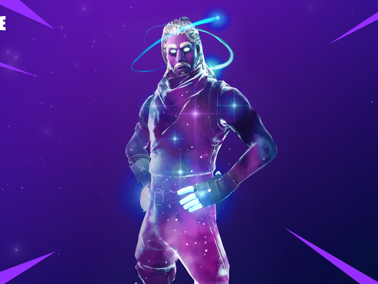 "The Samsung-exclusive ""Fortnite"" skin."