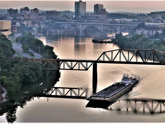 John Barker photographed the Knoxville skyline from