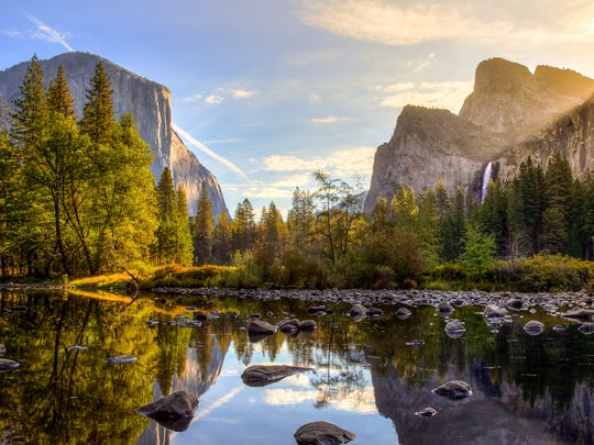 Yosemite National Park: $30 per vehicle or $15 per