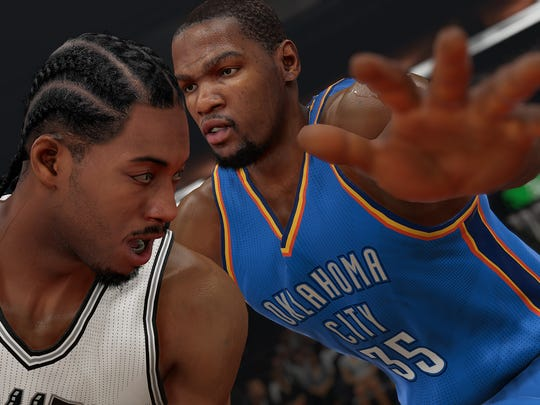NBA 2K15 increases side-by-side movement and tweaks player AI to encourage double teaming and help defense.