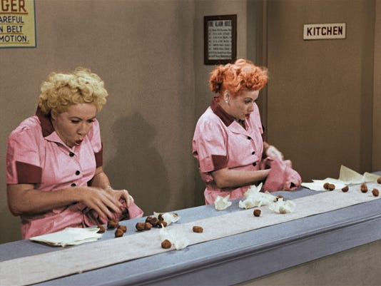 sunday tv i love lucy christmas red tent - I Love Lucy Christmas Special