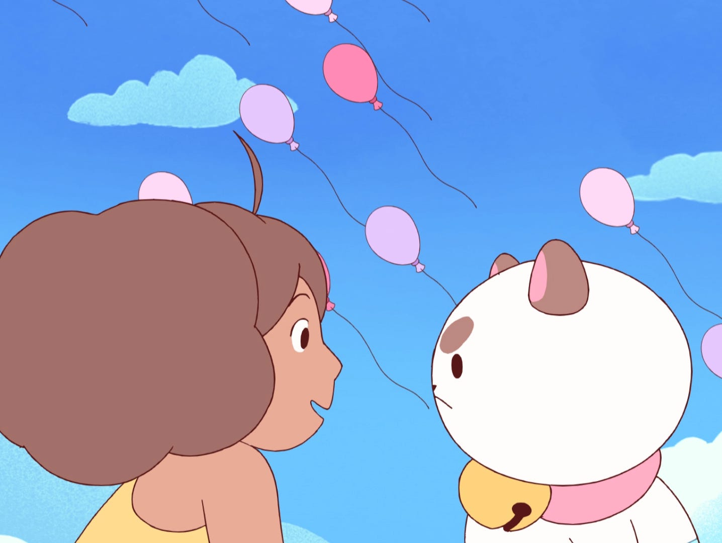 A scene from the online animated series 'Bee & Puppycat.'