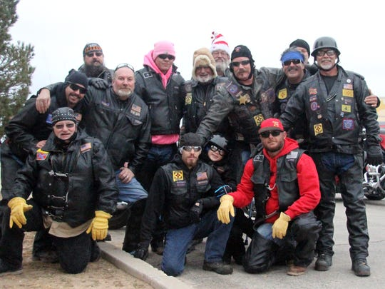 The Brotherhood of the 74's annual Toy Run.