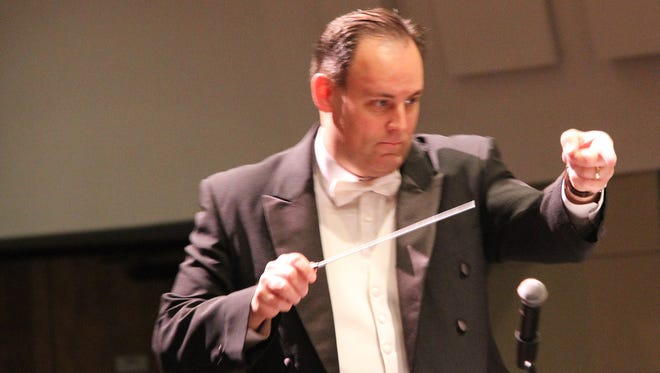 Teun Fetz leads the San Juan College Orchestra during a concert in November in Farmington. The group performs its spring concert Friday night.