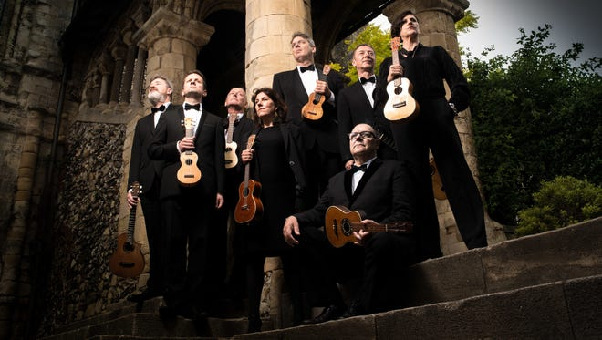 The Ukulele Orchestra of Great Britain is playing a sold-out performance at the Sharon Lynne Wilson Center for the Arts in Brookfield April 6.