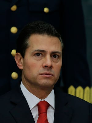 Mexico's President Enrique Pena Nieto during a press conference at Los Pinos presidential residence in Mexico City, on Jan. 23, 2017.