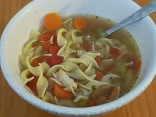 Stevie Kircher submitted this photo of snow day lunch - soup.