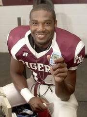 Chris Lett plays cornerback for Pensacola HIgh, but you would never know that he is playing with a disease: juvenile diabetes. Lett must check his blood-sugar levels during practice and games, which he does with his portable monitoring device.