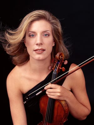 """Elizabeth Pitcairn, violinist who owns the """"red violin"""" featured in the eponymous Academy Award-winning movie of 1998. Pitcairn will perform in August with the Cincinnati Chamber Orchestra."""