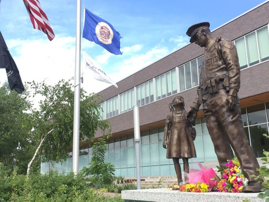 Flowers at St. Cloud Police Department