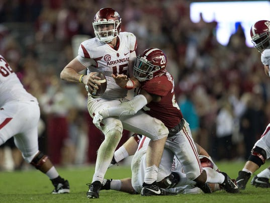 USP NCAA FOOTBALL: ARKANSAS AT ALABAMA S FBC USA AL
