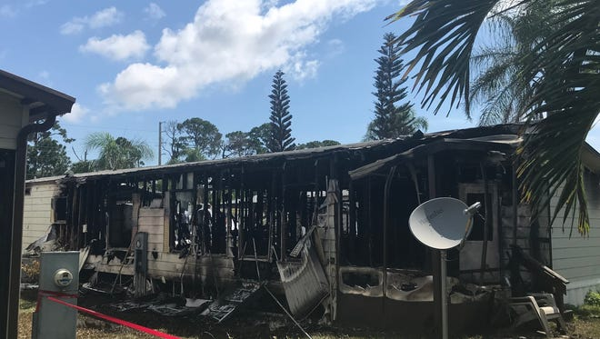 A deadly fire destroyed a mobile home in the 30 block of Flores del Norte before dawn Tuesday.